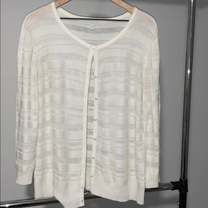 New York & Company Ivory cardigan in large